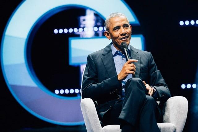 Barack Obama auf der Gedankentanken Bühne